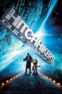 "Poster voor de film ""The Hitchhiker's Guide to the Galaxy"""