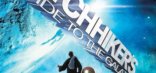"""Poster voor de film """"The Hitchhiker's Guide to the Galaxy"""""""