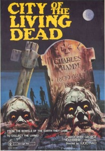 "Poster voor de film ""City of the Living Dead"""