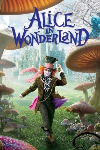 "Poster voor de film ""Alice in Wonderland"""