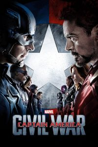 "Poster voor de film ""Captain America: Civil War"""