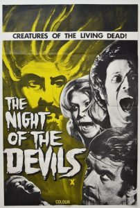 "Poster voor de film ""Night of the Devils"""