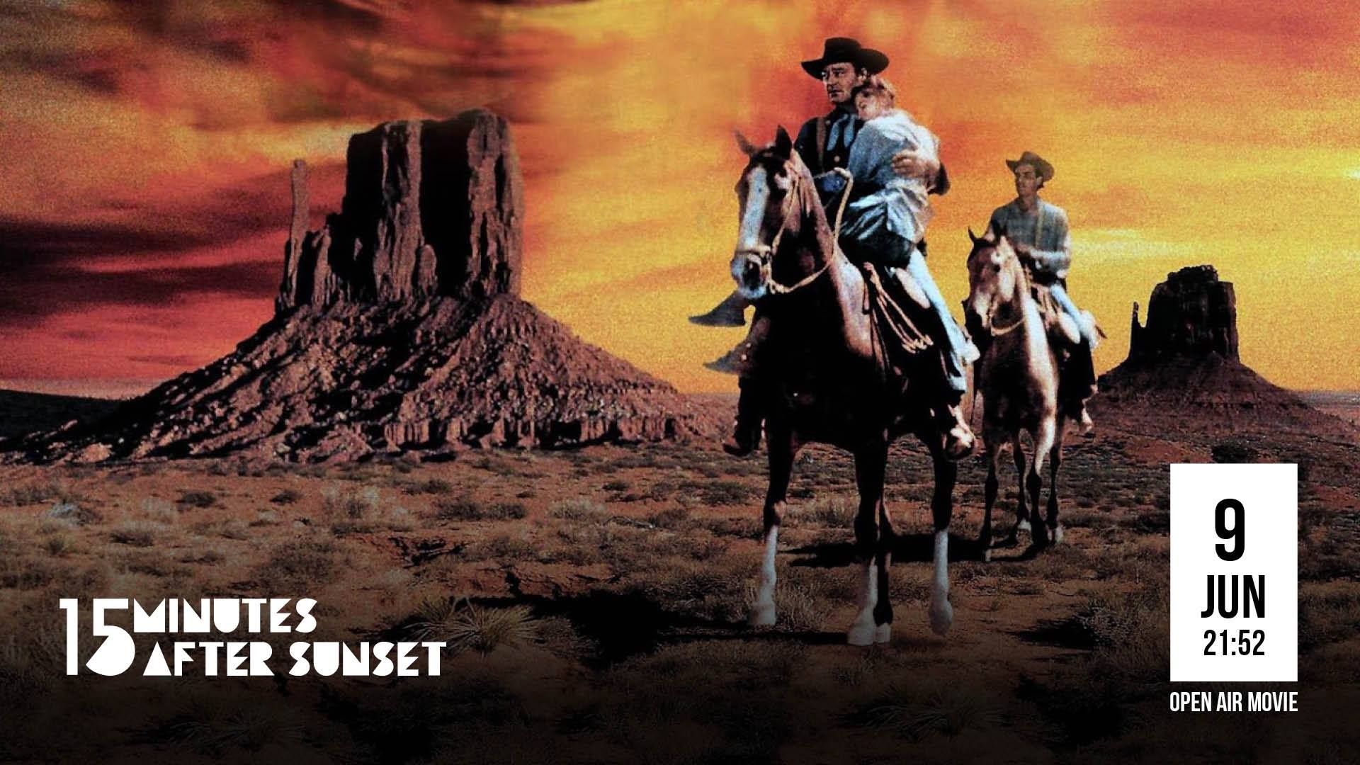 15 minutes after sunset - the Searchers
